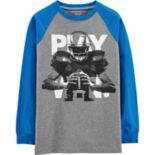 "Boys 4-12 Carter's ""Play Win."" Football Raglan Graphic Tee"