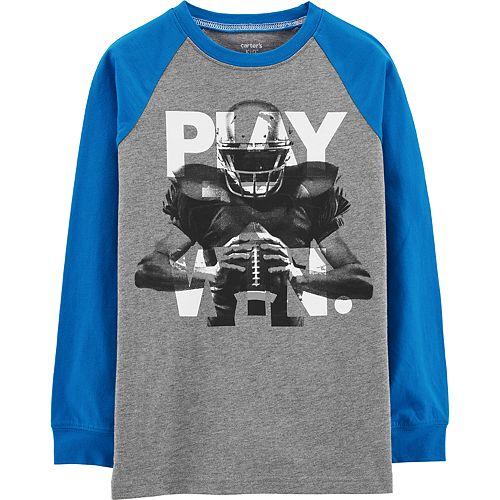 "Boys 4-12 Carter's ""Play Win."" Football Raglan Graphic Tee"