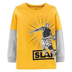 Boys 4-12 Carter's 'Slam' Basketball Mock Layer Tee
