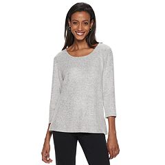 Women's Cathy Daniels Foiled Scoopneck Sweater