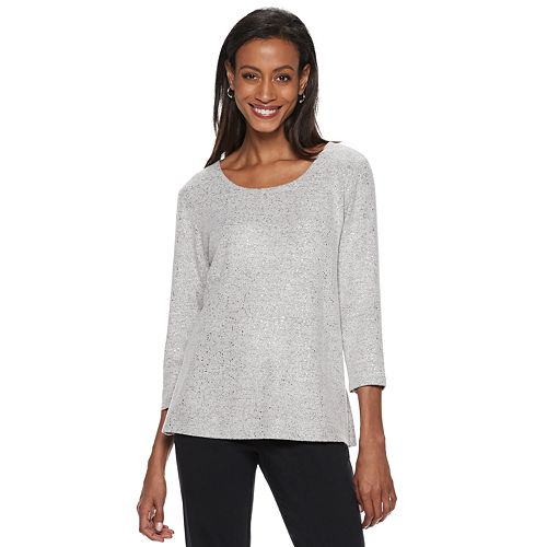 Women's Cathy Daniels Foiled Scoopneck Sweater