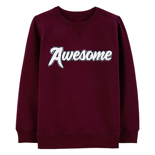 """Boys 4-12 Carter's """"Awesome"""" Pullover Sweatshirt"""