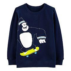 Boys 4-12 Carter's Gorilla Skateboarding Sweatshirt