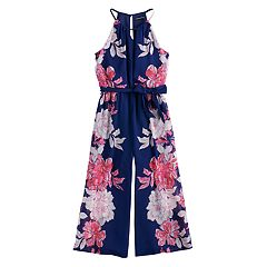 Girls 7-16 My Michelle Floral Jumpsuit