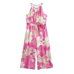 Girls 7-16 My Michelle Floral Halter Jumpsuit