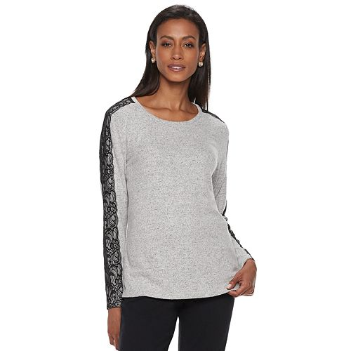 Women's Cathy Daniels  Lace-Trim Top