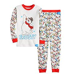 Boys 4-10 Frosty The Snowman 2-Piece Pajama Set