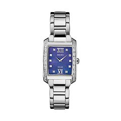 Seiko Women's Diamond Accent Stainless Steel Solar Watch - SUP401