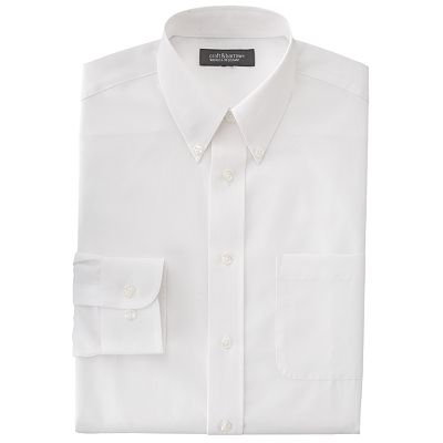 Croft and Barrow Classic-Fit Solid Broadcloth Non-Iron Button-Down Collar Dress Shirt