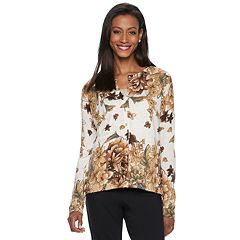 Women's Cathy Daniels Embellished Floral Cardigan Sweater