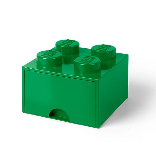 Lego Brick Drawer 4 Dark Green