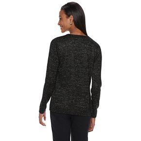 Women's Cathy Daniels Crewneck Lurex Sweater