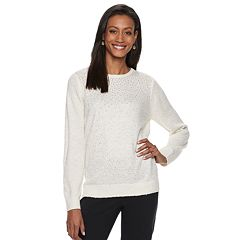 Women's Cathy Daniels Crewneck Lurex Sweater