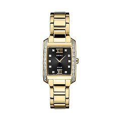 Seiko Women's Diamond Accent Stainless Steel Solar Watch - SUP406