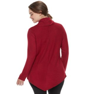 Juniors' Plus Size IZ Byer Cowlneck Sweater