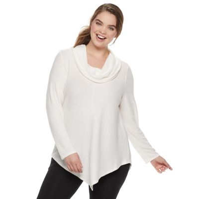Juniors' Plus Size IZ Byer Cowlneck Sweater