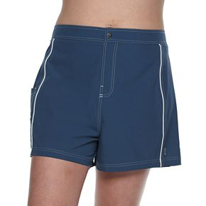 Plus Size Free Country Stretch Swim Shorts