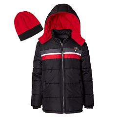 a9b4ecac8cfb Boys 4-7 I-Extreme Colorblock Heavyweight Puffer Jacket with Hat