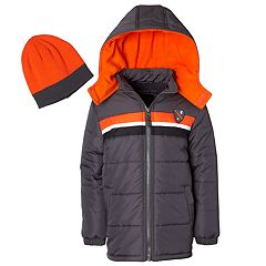 Boys 4-7 I-Extreme Colorblock Heavyweight Puffer Jacket with Hat
