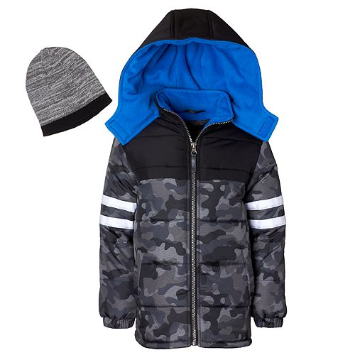 d3e31df64 Boys 4-7 I-Extreme Camo Heavyweight Puffer Jacket with Hat