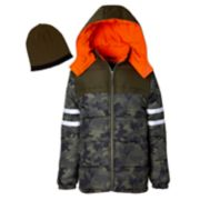 Boys 4-7 I-Extreme Camo Heavyweight Puffer Jacket with Hat