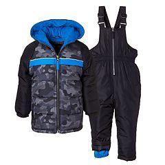 Boys 4-7 I-Extreme Camo Heavyweight Jacket & Bib Snowpants Set