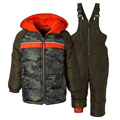 Boys 4-7 I-Extreme Camo Heavyweight Jacket & Bib Snowpants Set