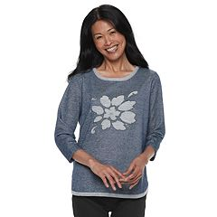 Women's Cathy Daniels Floral Lurex Sweater