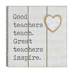 Belle Maison 'Teachers' Box Sign Art
