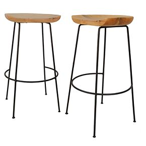 Carolina Forge Diya Bar Stool 2-piece Set