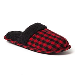Men's Dearfoams Plaid Family Holiday Scuff Slippers