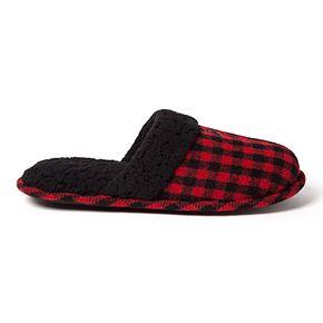 Men's Dearfoams Plaid Family Holiday Scuff Slippers