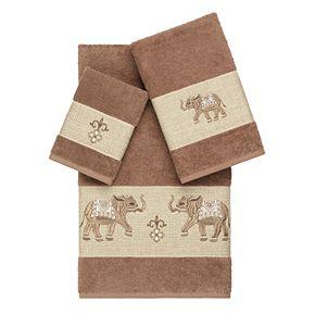 Linum Home Textiles 3-piece Turkish Cotton Quinn Embellished Towel Set