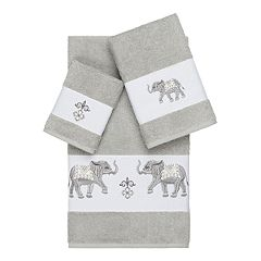 Linum Home Textiles 3-piece Turkish Cotton Quinn Embellished Towel Set