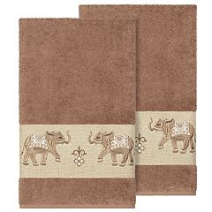Linum Home Textiles Turkish Cotton Quinn Embellished Bath Towel Set