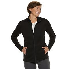 Women's Croft & Barrow® Zip-Front Sweater Jacket