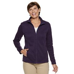 Women's Croft & Barrow® Zip-Front Sweater Fleece Jacket