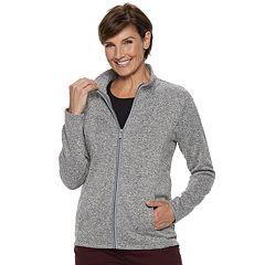 Women's Croft & Barrow® Zip-Front Sweater Fleece Jacket