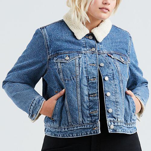 Plus Size Levi's® Sherpa Trucker Jacket