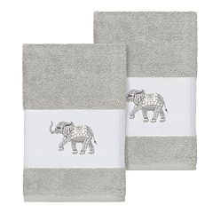 Linum Home Textiles Turkish Cotton Quinn Embellished Hand Towel Set
