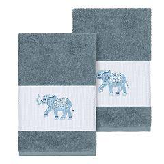 Linum Home Textiles Turkish Cotton Quinn Embellished Hand Towel Set
