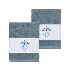 Linum Home Textiles Turkish Cotton Quinn Embellished Washcloth Set