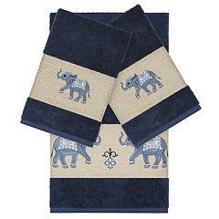 Linum Home Textiles 3-piece Turkish Cotton Quinn Embellished Bath Towel Set