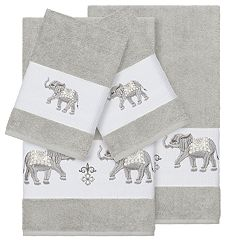 Linum Home Textiles 4-piece Turkish Cotton Quinn Embellished Bath Towel Set