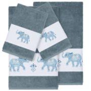 Linum Home Textiles 4-piece Turkish Cotton Quinn Embellished Bath Towel Set