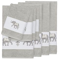 Linum Home Textiles 8-piece Turkish Cotton Quinn Embellished Bath Towel Set