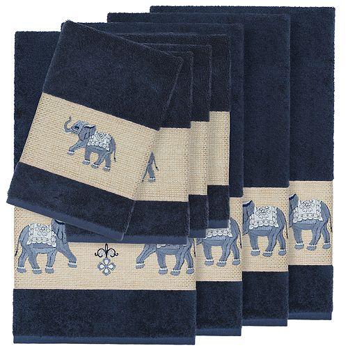 Linum Home Textiles 8-piece Turkish Cotton Quinn Embellished Bath Towel Set
