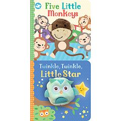 Five Little Monkeys & Twinkle Twinkle Little Star Finger Puppet Board Book 2-pack