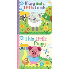 Mary Had a Little Lamb & This Little Piggy Finger Puppet Board Book 2-pack