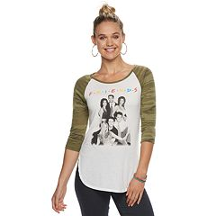 Juniors' Friends Camouflage Raglan Tee